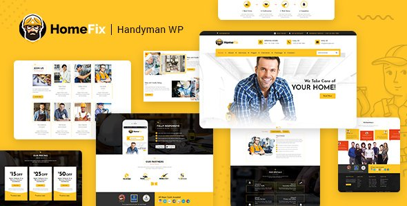 HomeFix - Plumber, Handyman Maintenance Theme v1.9