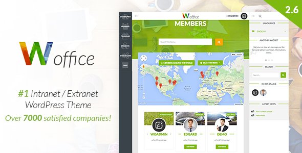 Woffice - Multipurpose IntranetExtranet WordPress Theme v2.9.2