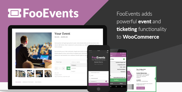 FooEvents for WooCommerce v1.11.53 + Addons