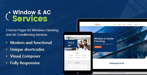 AC Services - Air Conditioning and Heating Company WordPress Theme
