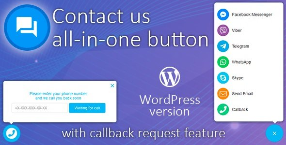 All in One Support Button + Callback Request