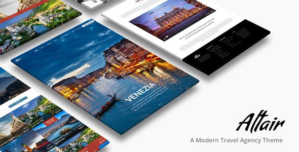 Altair - Travel Agency WordPress Theme
