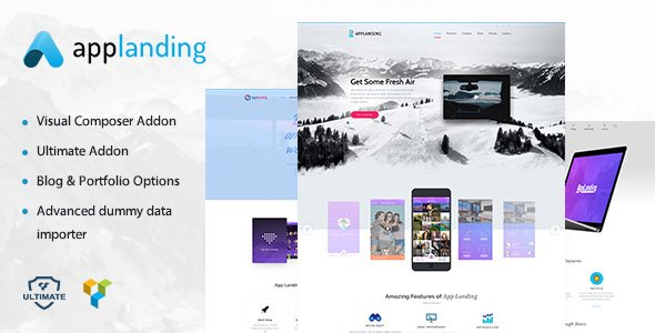 App Promotion - One Page App Promotion Theme