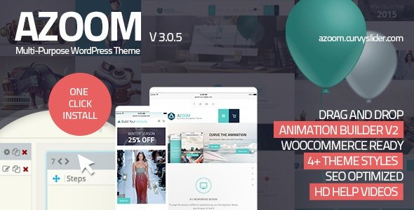 Azoom - Multi-Purpose Theme with Animation Builder