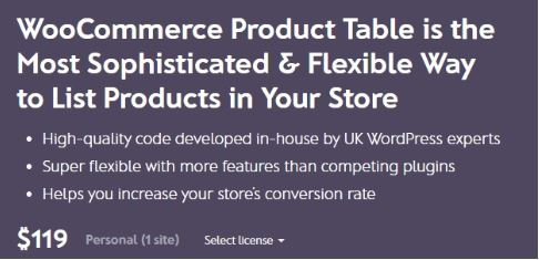 Barn2 Media WooCommerce Product Table gplmonster