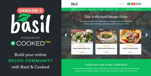 Basil - WordPress Recipes Theme v2.0.3