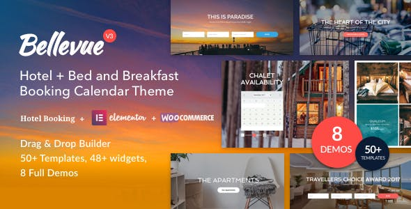 Bellevue | Hotel + Bed and Breakfast Booking Calendar Theme v3.2.7