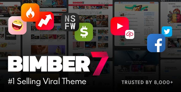 Bimber Viral Magazine WordPress Themes v8.6.3