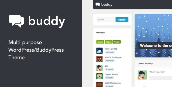 Buddy - Multi-Purpose WordPress BuddyPress Theme