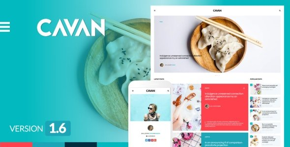 CAVAN - A Distinctive WordPress Blog Theme