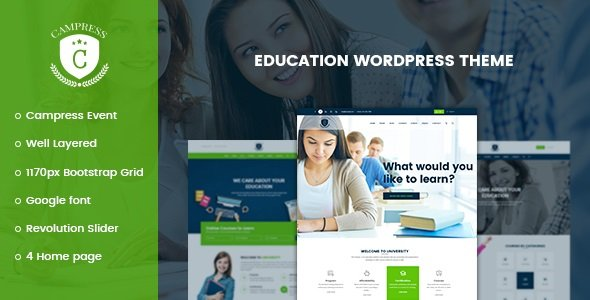 Campress - Responsive Education, Courses and Events WordPress Theme v1.15