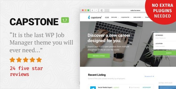 Capstone – Job Board WordPress Theme v1.7.2