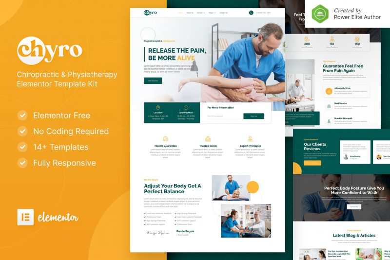 Chyro – Chiropractic & Physiotherapy Elementor Template Kit