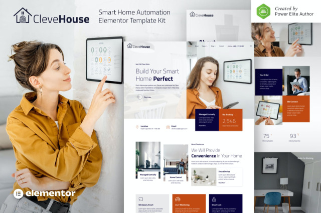 Clevehouse – Smart Home Automation Elementor Template Kit