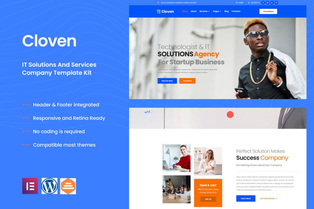 Cloven – IT Solutions & Services Company Elementor Template Kit