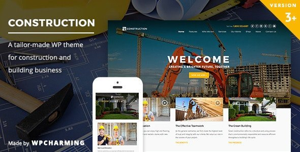 Construction WordPress Theme v3.3