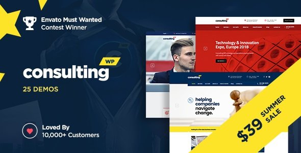 Consulting – Business, Finance WordPress Theme v6.1.1
