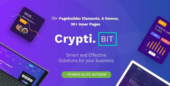 CryptiBIT - Technology, Cryptocurrency, ICO&IEO Landing Page WordPress Theme