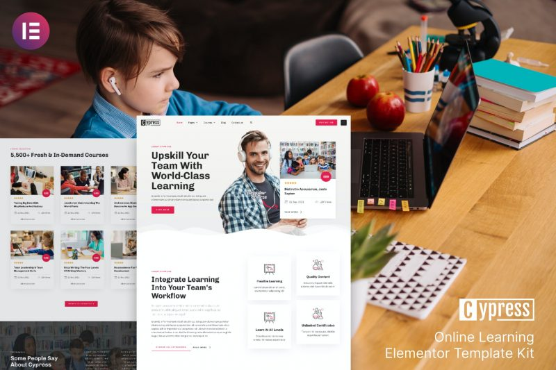 Cypress - Online Learning & Courses Elementor Template Kit