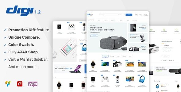 Digi - Electronics Store WooCommerce WordPress Themes
