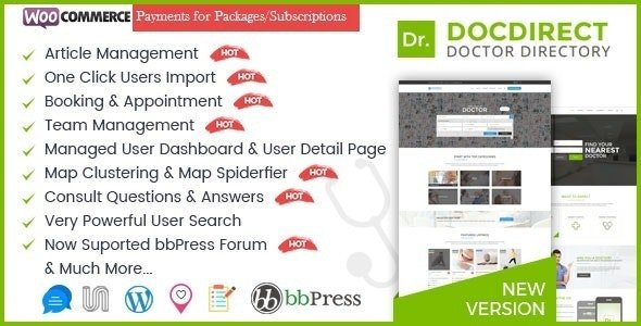 DocDirect - WordPress Theme for Doctors and Healthcare Directory