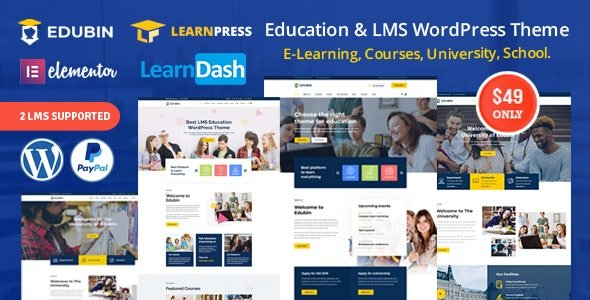 Edubin – Education LMS WordPress Theme v6.9.17