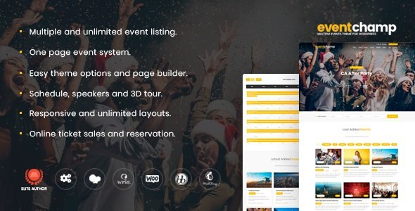 Event Champ - Multiple Events & Conference WordPress Theme