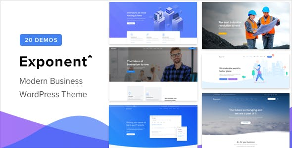 Exponent - Modern Multi-Purpose Business WordPress theme v1.2.8.5
