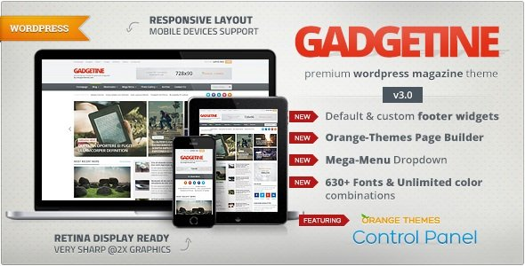 Gadgetine - WordPress Theme for Premium Magazine