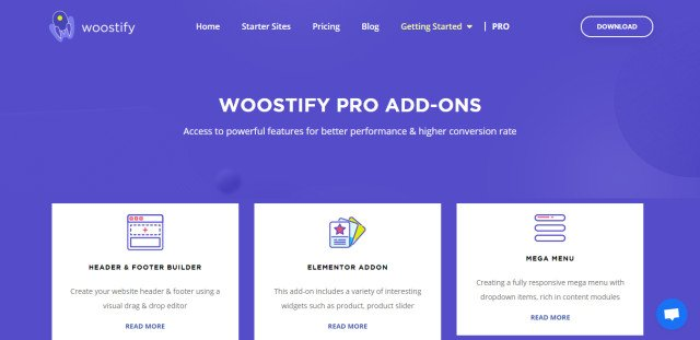Woostify – Fast, lightweight, responsive and super flexible WooCommerce theme + Pro Addon