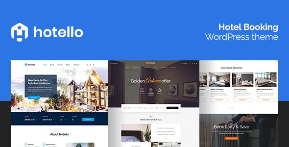 Hotello - Hotel Booking WordPress theme