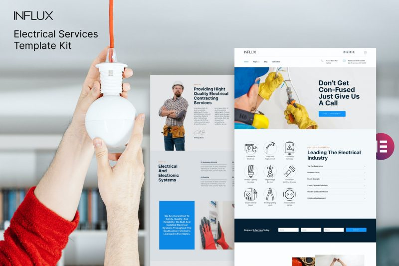 Influx - Electrician & Electrical Services Template Kit