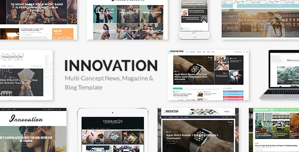 INNOVATION: Multi-Concept News, Magazine & Blog Theme v5.6