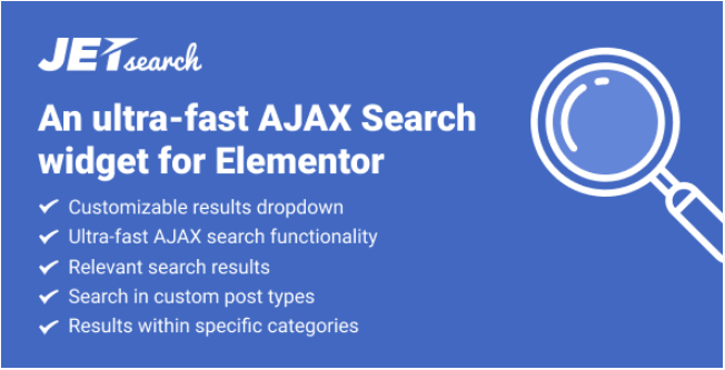 JetSearch – Elementor Experience the true power of search functionality v2.1.9