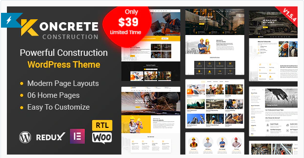 Koncrete - Construction Building WordPress Theme v1.5.5