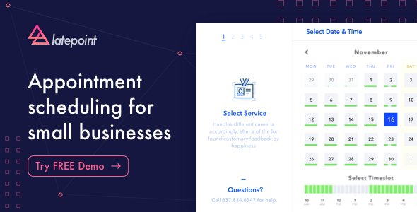 LatePoint - Appointment Booking & Reservation plugin for WordPress v4.0.3 + Addons