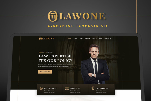 Lawone - Legal & Law Firm Elementor Template Kit