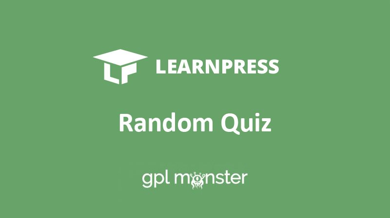 Learnpress – Random Quiz Add-On v3.1.1