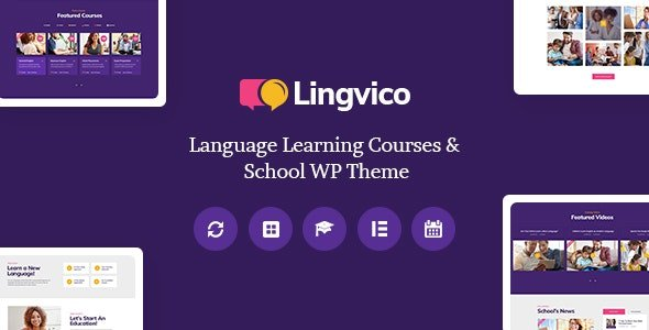 Lingvico - Language Center & Training Courses WordPress Theme