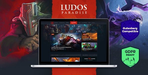 Ludos Paradise | Gaming Blog & Clan WordPress Theme v2.0.2