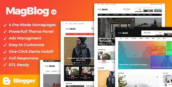 MagBlog - News & Editorial Magazine Blogger Theme v1.0.0