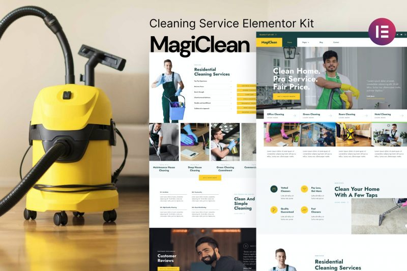 Magiclean – Cleaning Service Elementor Template Kit