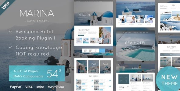 Marina - Hotel & Resort WordPress Theme v1.6