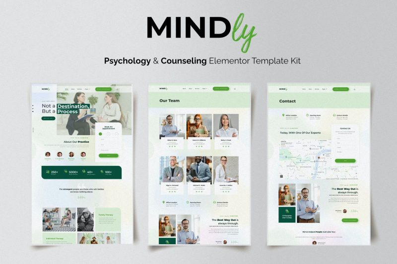 Mindly - Psychology, Therapy & Counseling Elementor Template Kit