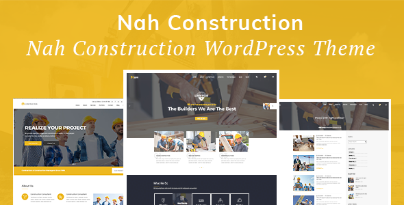 Nah Construction - Building Business WordPress Theme