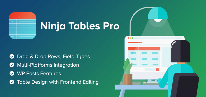 Ninja Tables Pro – The Fastest and Most Diverse WP DataTables Plugin v4.1.5