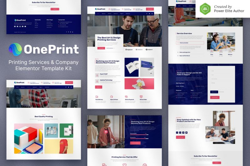 OnePrint – Printing Services Company Elementor Template Kit