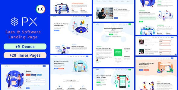 PXaas - App & Software Landing Page Theme v1.0.6