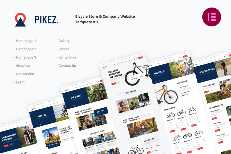 Pikez - Bicycle Store & Company Elementor Template Kit