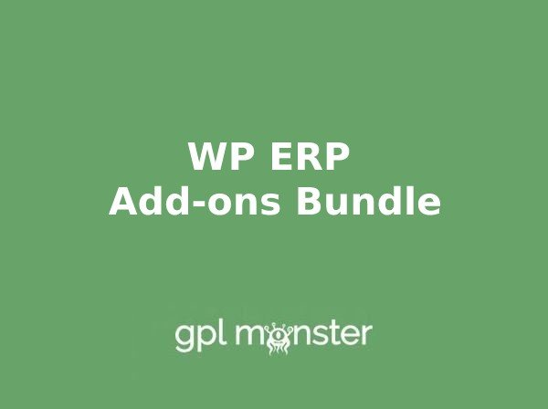 WP ERP Addons November 2020 Bundle